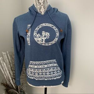TENTREE Pullover Hoodie Blue Size XS